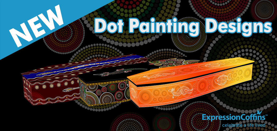 Dot Painting Coffins