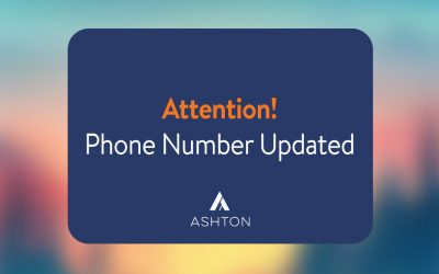 Updated Phone Number for Ashton Manufacturing