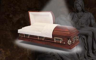Just look at the features included with our Batesville Pieta Maple casket