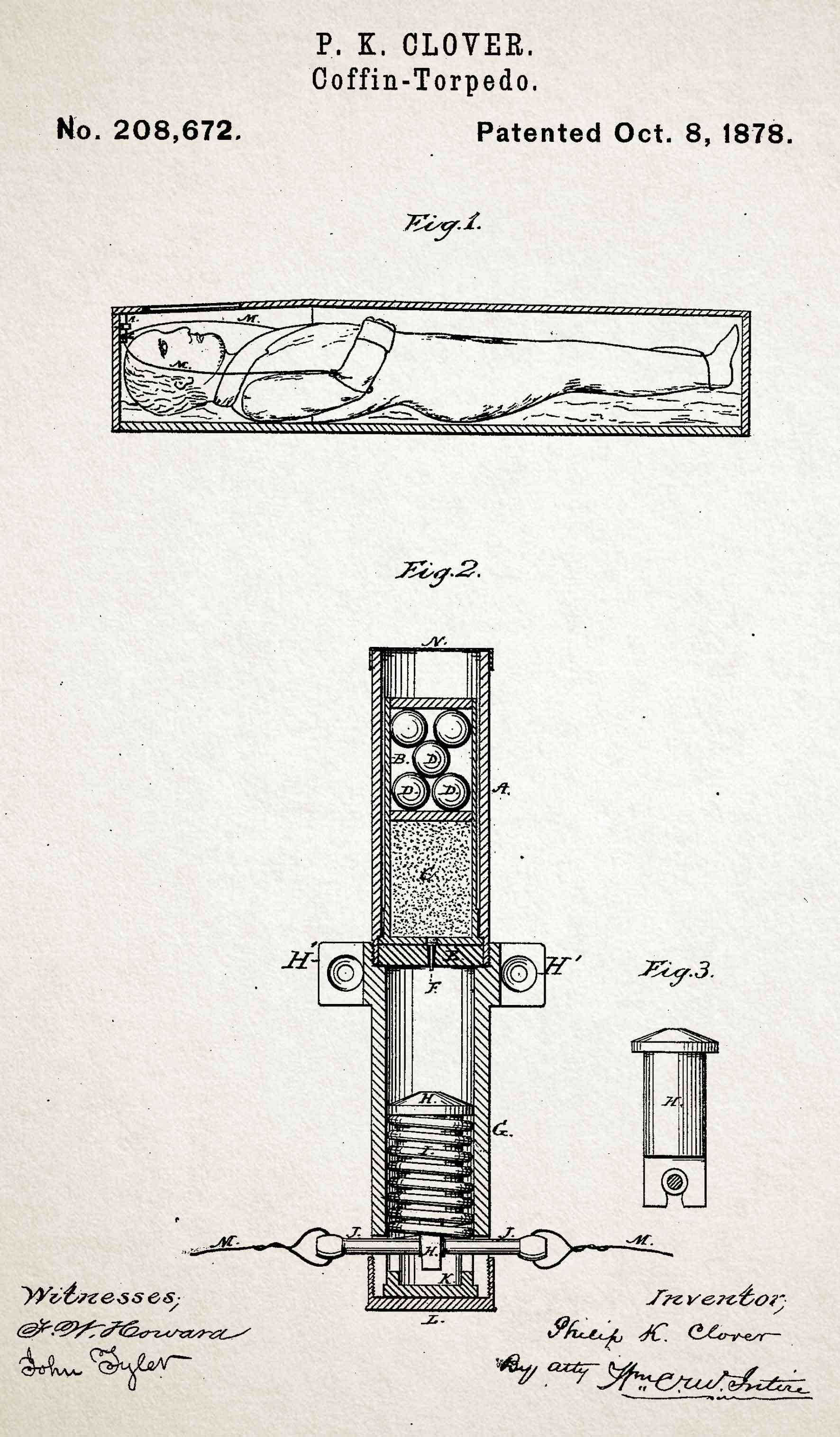 Coffin torpedo patent illustration