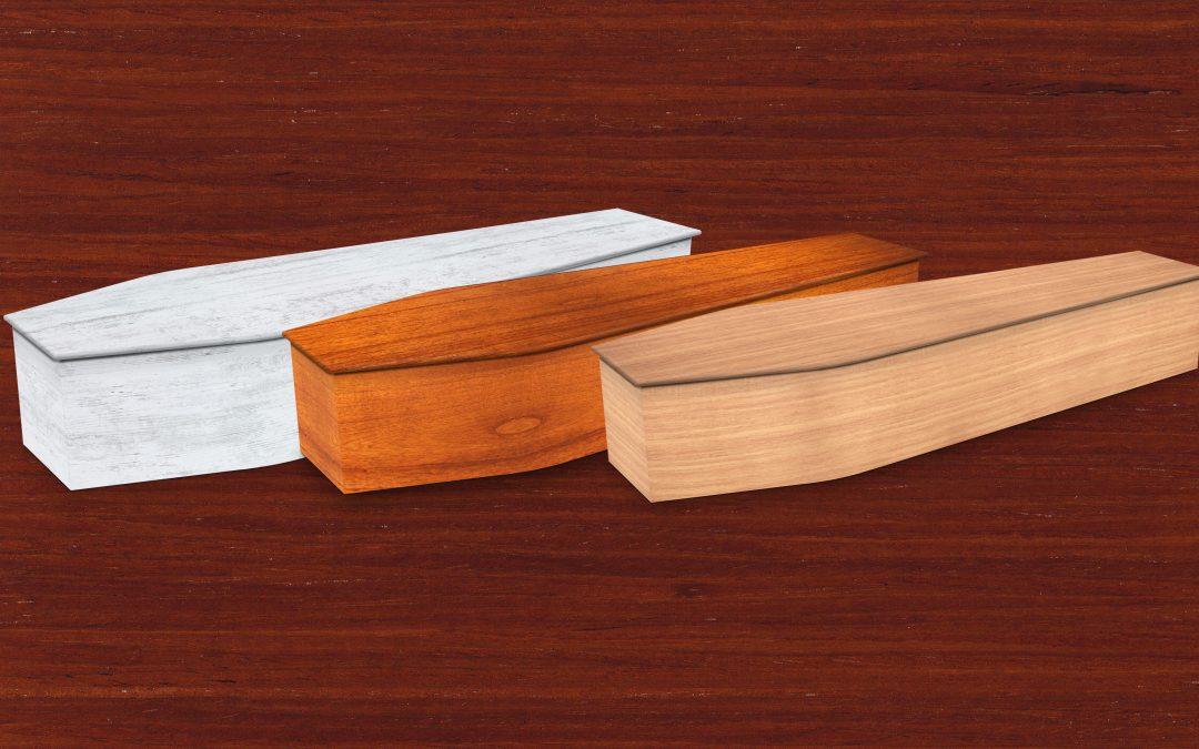 New: Wood-look texture coffins